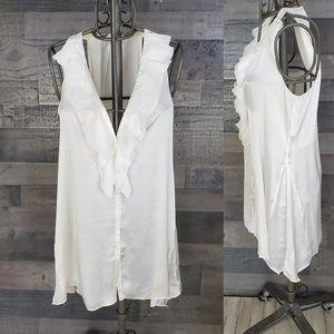 Soft Surroundings NWOT silky sleeveless blouse, M